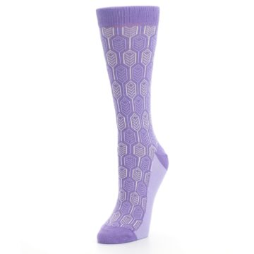 Image of Purple Feather Optics Women's Dress Socks (side-2-front-08)