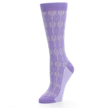 Image of Purple Feather Optics Women's Dress Socks (side-2-09)