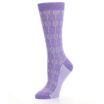 Image of Purple Feather Optics Women's Dress Socks (side-2-10)