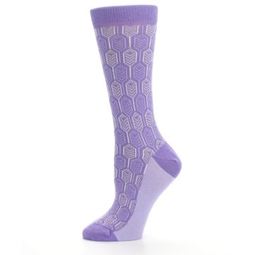 Image of Purple Feather Optics Women's Dress Socks (side-2-11)