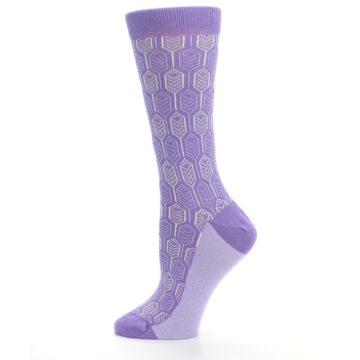 Image of Purple Feather Optics Women's Dress Socks (side-2-12)