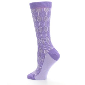 Image of Purple Feather Optics Women's Dress Socks (side-2-13)