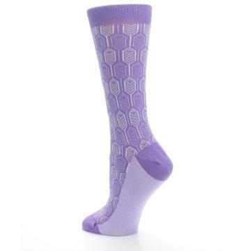 Image of Purple Feather Optics Women's Dress Socks (side-2-back-14)