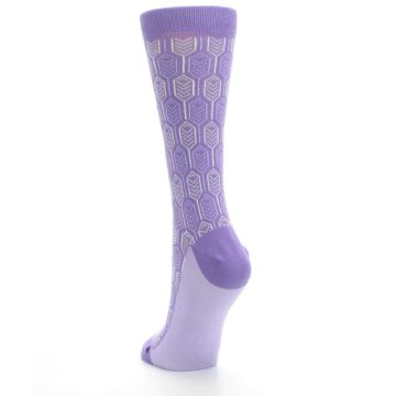 Image of Purple Feather Optics Women's Dress Socks (side-2-back-16)