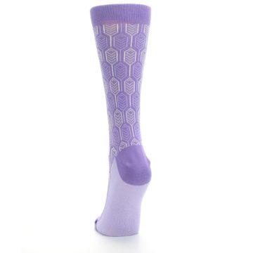 Image of Purple Feather Optics Women's Dress Socks (back-17)