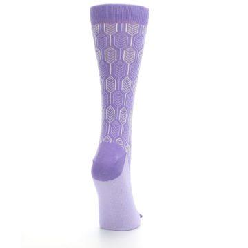 Image of Purple Feather Optics Women's Dress Socks (side-1-back-20)