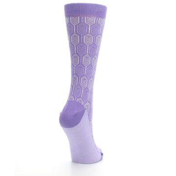 Image of Purple Feather Optics Women's Dress Socks (side-1-back-21)