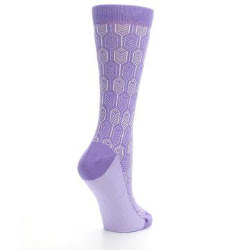 Image of Purple Feather Optics Women's Dress Socks (side-1-back-22)