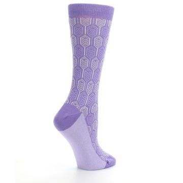 Image of Purple Feather Optics Women's Dress Socks (side-1-23)