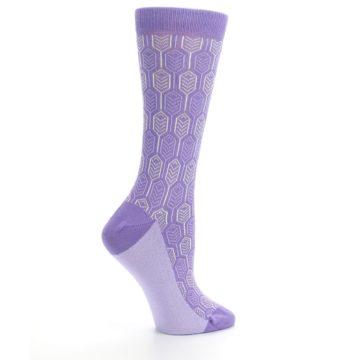Image of Purple Feather Optics Women's Dress Socks (side-1-24)