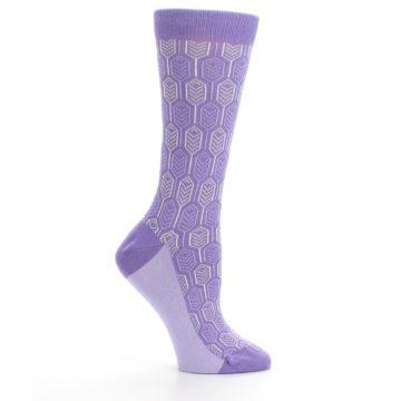 Image of Purple Feather Optics Women's Dress Socks (side-1-25)