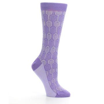 Image of Purple Feather Optics Women's Dress Socks (side-1-26)