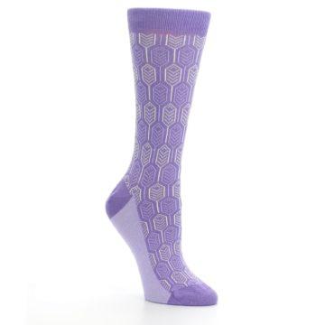 Image of Purple Feather Optics Women's Dress Socks (side-1-27)