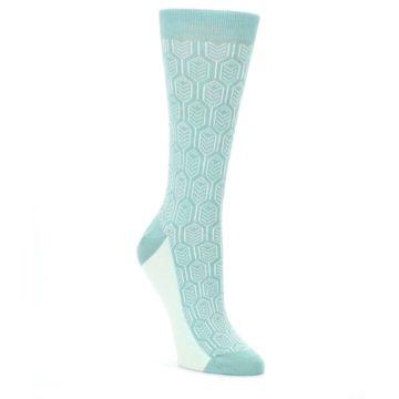 Teal-Feather-Optics-Womens-Dress-Socks-Statement-Sockwear