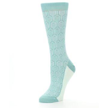 Image of Teal Feather Optics Women's Dress Socks – Statement Sockwear (side-2-09)
