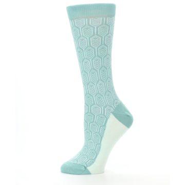 Image of Teal Feather Optics Women's Dress Socks – Statement Sockwear (side-2-11)
