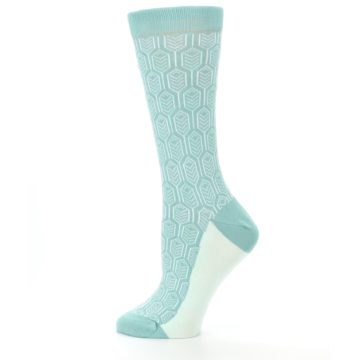 Image of Teal Feather Optics Women's Dress Socks – Statement Sockwear (side-2-12)