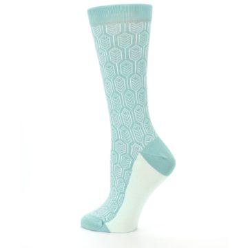 Image of Teal Feather Optics Women's Dress Socks – Statement Sockwear (side-2-13)