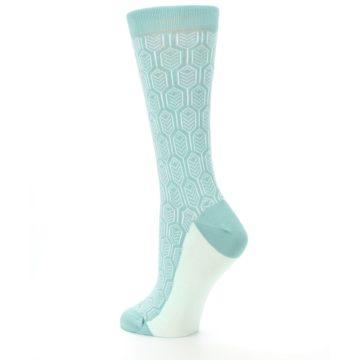 Image of Teal Feather Optics Women's Dress Socks – Statement Sockwear (side-2-back-14)