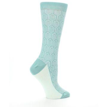 Image of Teal Feather Optics Women's Dress Socks – Statement Sockwear (side-1-24)