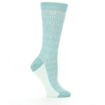 Image of Teal Feather Optics Women's Dress Socks – Statement Sockwear (side-1-25)