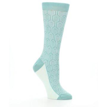 Image of Teal Feather Optics Women's Dress Socks – Statement Sockwear (side-1-26)