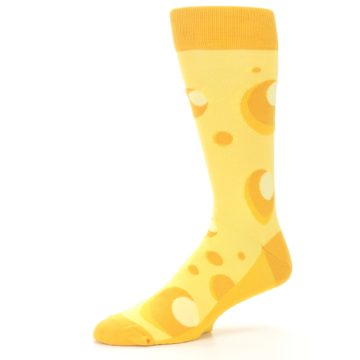 Image of Yellow Cheesy Mouse Men's Dress Socks (side-2-10)