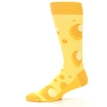 Image of Yellow Cheesy Mouse Men's Dress Socks (side-2-11)
