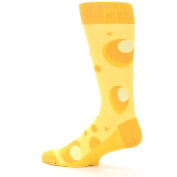 Image of Yellow Cheesy Mouse Men's Dress Socks (side-2-13)