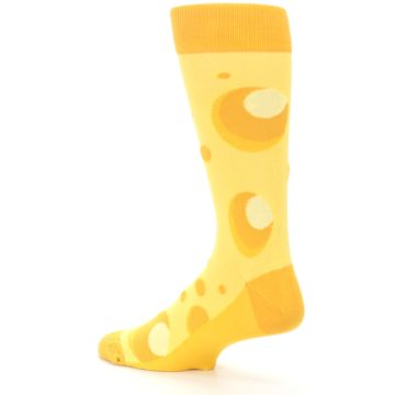 Image of Yellow Cheesy Mouse Men's Dress Socks (side-2-back-14)
