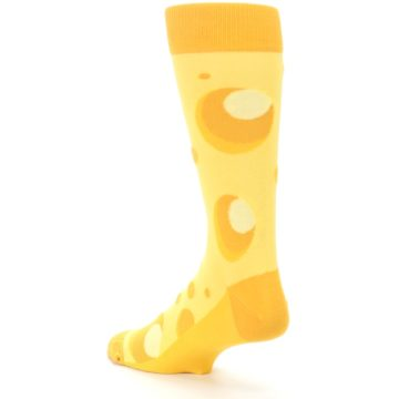Image of Yellow Cheesy Mouse Men's Dress Socks (side-2-back-15)