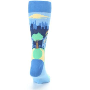 Image of Blue Food Truck Burgers Men's Dress Socks (back-19)