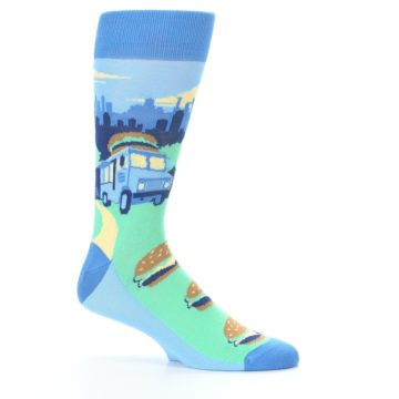 Image of Blue Food Truck Burgers Men's Dress Socks (side-1-25)