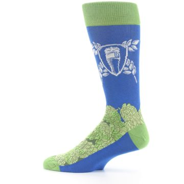 Image of Blue Green Beer Hops Men's Dress Socks (side-2-12)