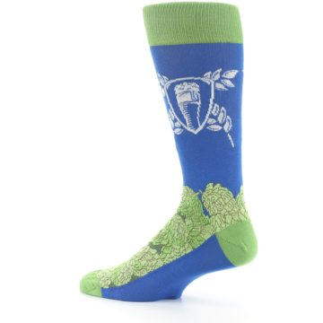 Image of Blue Green Beer Hops Men's Dress Socks (side-2-13)