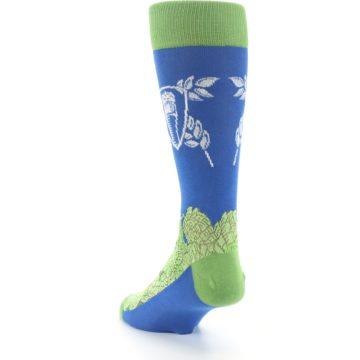 Image of Blue Green Beer Hops Men's Dress Socks (side-2-back-16)