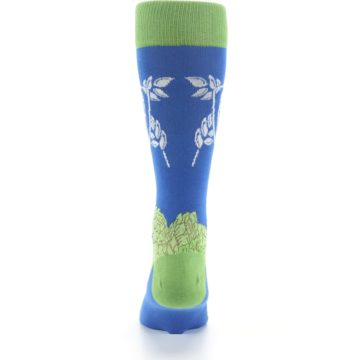 Image of Blue Green Beer Hops Men's Dress Socks (back-18)