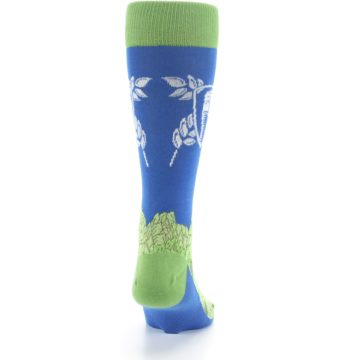 Image of Blue Green Beer Hops Men's Dress Socks (back-19)