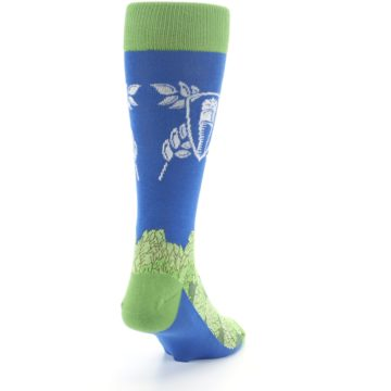 Image of Blue Green Beer Hops Men's Dress Socks (side-1-back-20)