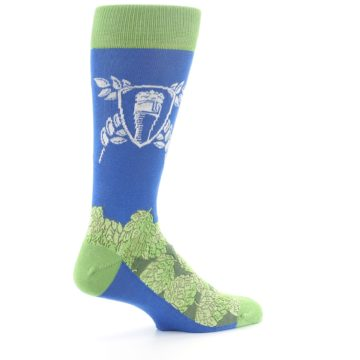 Image of Blue Green Beer Hops Men's Dress Socks (side-1-23)