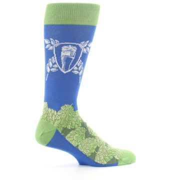 Image of Blue Green Beer Hops Men's Dress Socks (side-1-24)