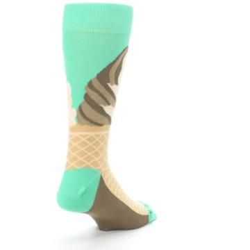 Image of Seafoam Green Ice Cream Cone Men's Dress Socks (side-1-back-21)