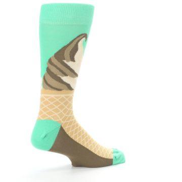 Image of Seafoam Green Ice Cream Cone Men's Dress Socks (side-1-23)
