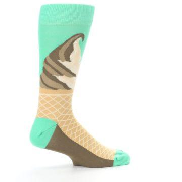 Image of Seafoam Green Ice Cream Cone Men's Dress Socks (side-1-24)