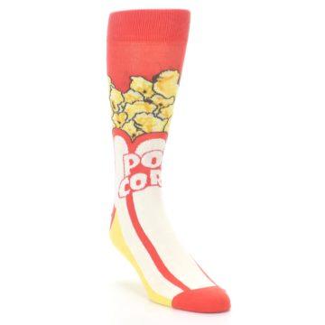 Image of Red White Pop Corn Men's Dress Socks (side-1-front-02)