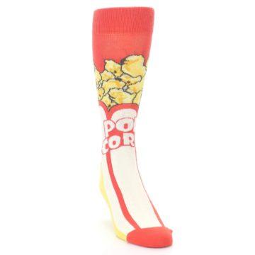 Image of Red White Pop Corn Men's Dress Socks (side-1-front-03)