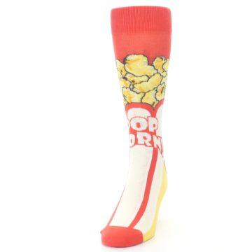 Image of Red White Pop Corn Men's Dress Socks (side-2-front-06)