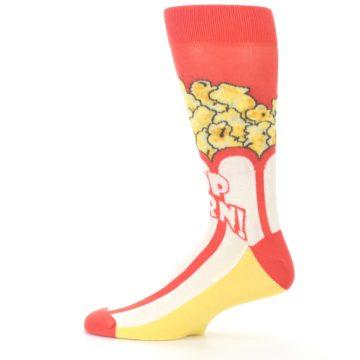 Image of Red White Pop Corn Men's Dress Socks (side-2-12)