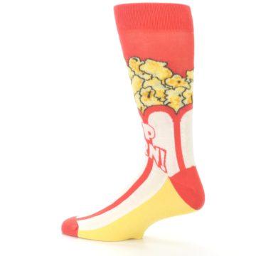 Image of Red White Pop Corn Men's Dress Socks (side-2-13)