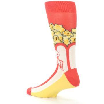Image of Red White Pop Corn Men's Dress Socks (side-2-back-14)